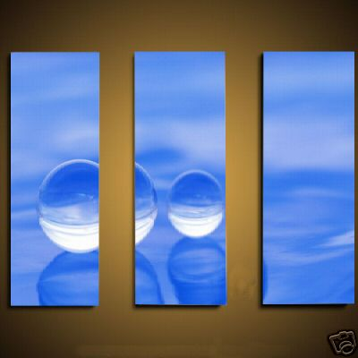Dafen Oil Painting on canvas blue water drops -set468