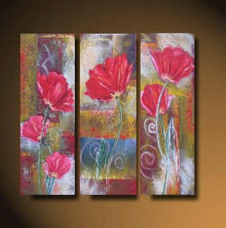 Dafen Oil Painting on canvas red water lily -set518