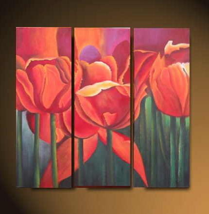 Dafen Oil Painting on canvas water lily -set519