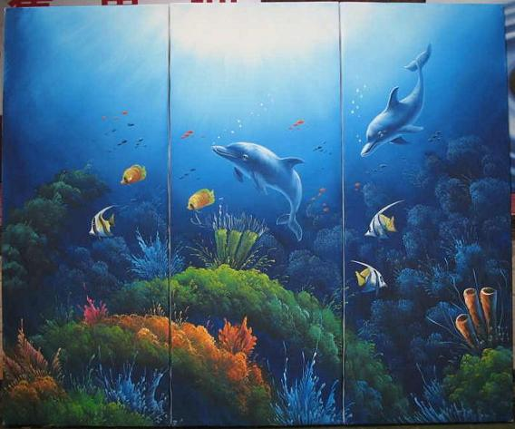 Dafen Oil Painting on canvas world of floor -set532