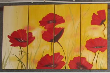 Dafen Oil Painting on canvas flower -set601