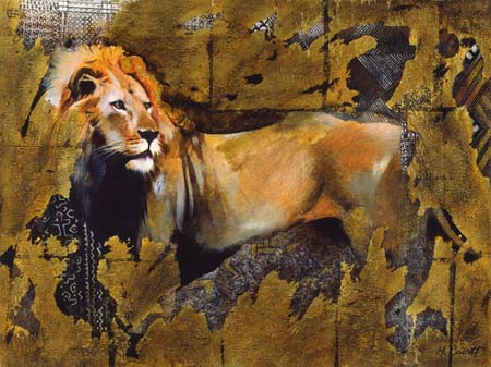 Dafen Oil Painting on canvas -tiger06